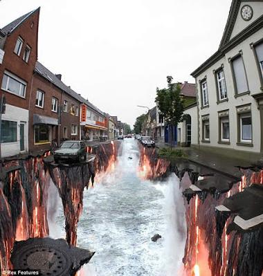 Gambar 3d di Jalanan Yang Bisa Membuat Decak Kagum